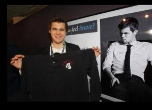 Le champion du monde Magnus Carlsen à Cannes
