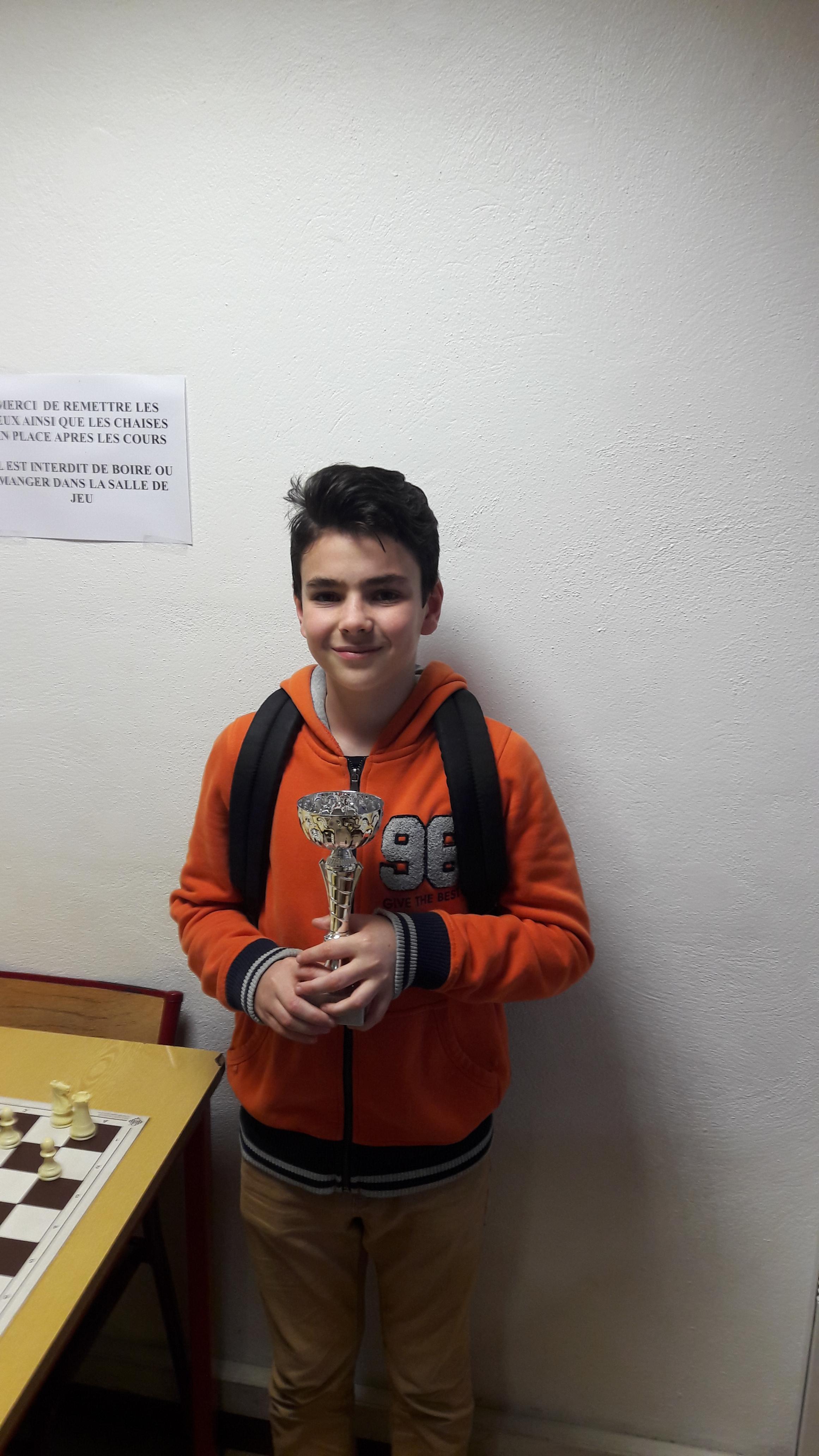 Nils vainqueur du Rapide