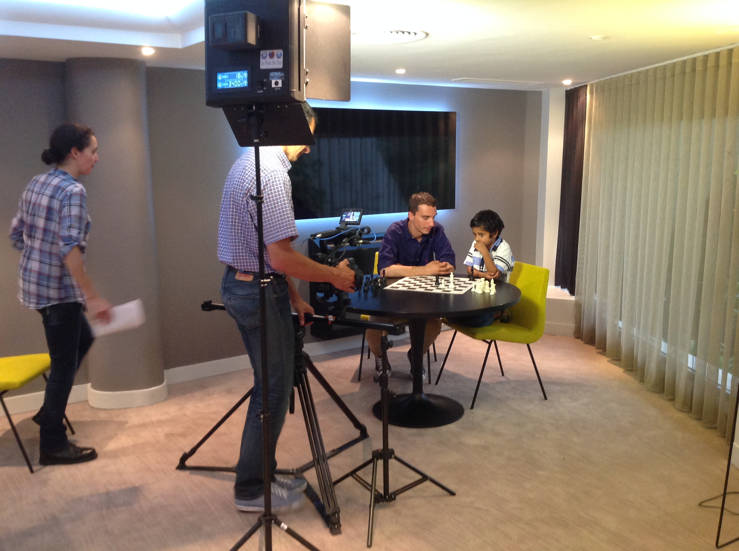 France 2 en tournage avec Cannes-Echecs